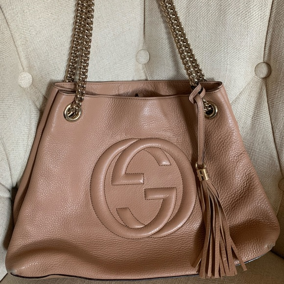 Gucci Handbags - Gucci Soho Chain Strap Handbag Leather Tote